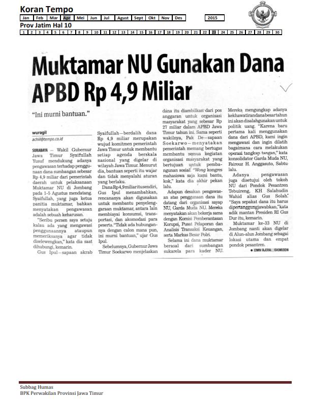 23-04-2015 Jatim  Koran Tempo Hal 10