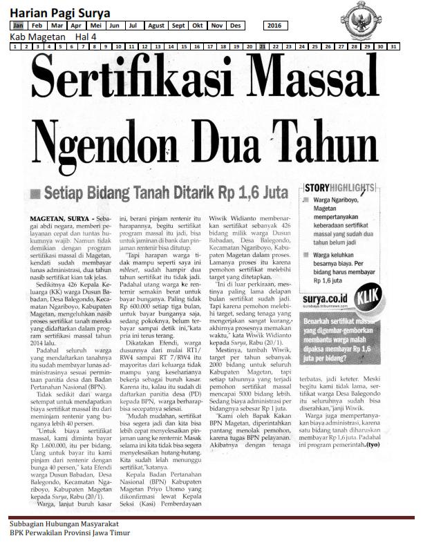 21-01-2016 Kab Magetan Harian Pagi Surya Hal 4_001