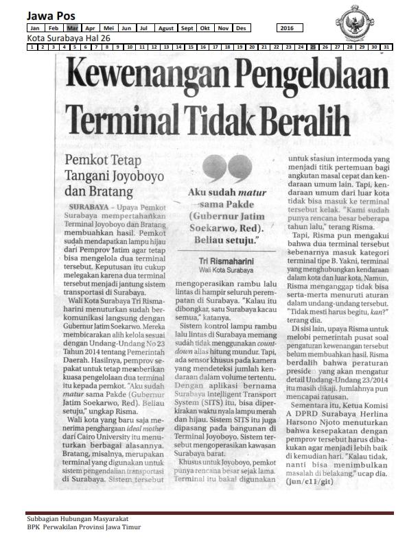 25-03-2016 Kota Surabaya Jawa Pos Hal 26