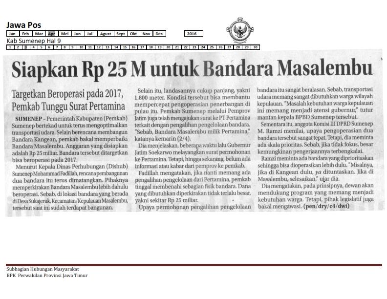 03-04-2016 Kab Sumenep Jawa Pos Hal  9
