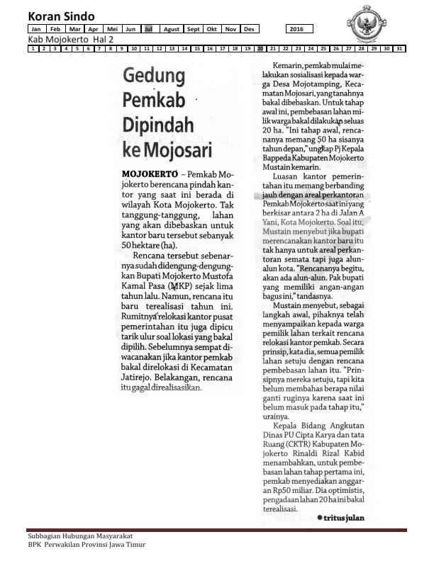 20-07-2016 Kab Mojokerto Koran Sindo Hal 2_001